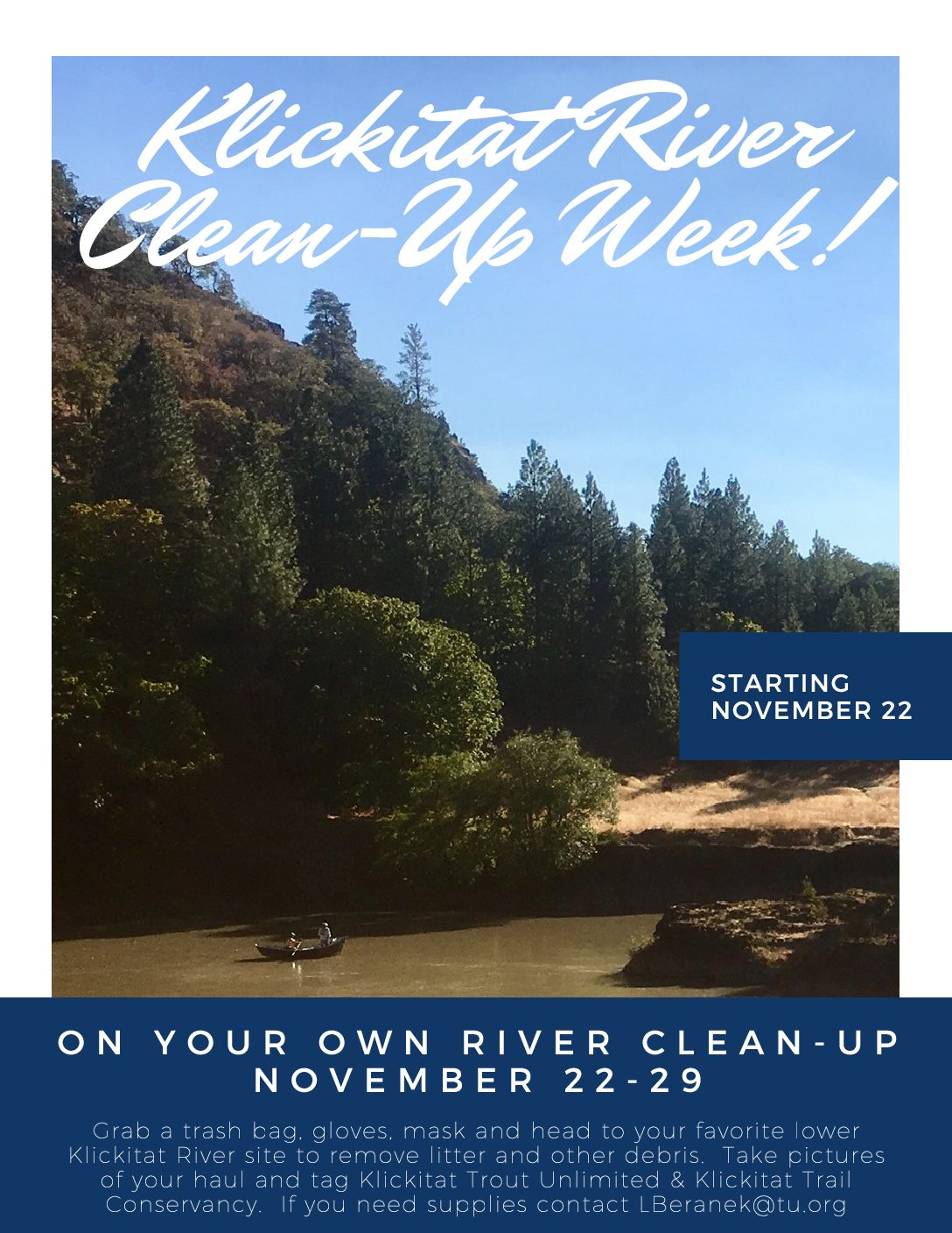 Klickitat River Clean-up!