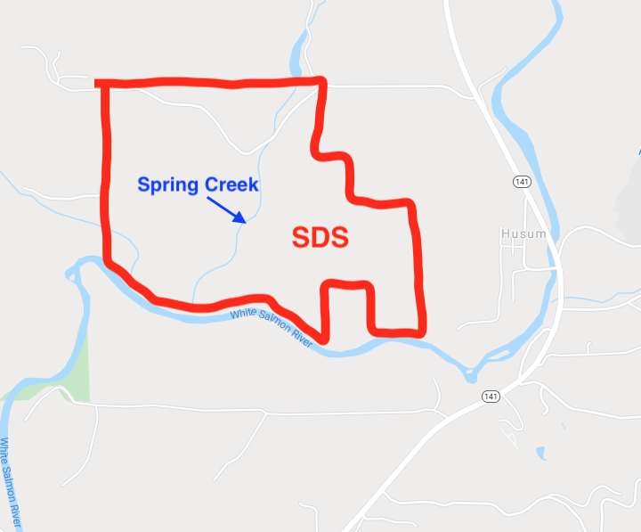 Spring Creek area map